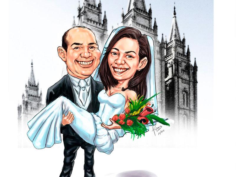 caricaturas-boda
